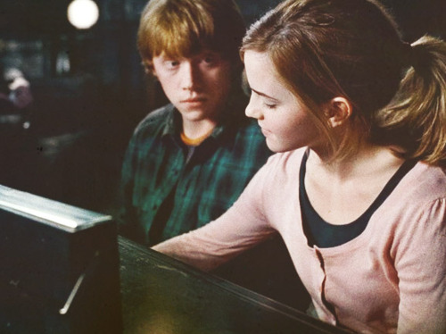 Harry Potter Hermione Grager Ron Wesley Image 594854 On Favim Com
