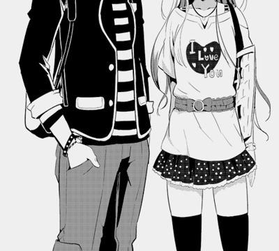 Black and White Anime Couples