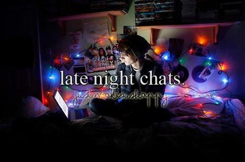 late night chat room