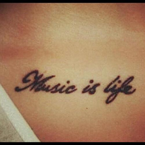 Tattoo Quotes Music: Image #607360 On Favim.com