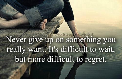 never give up quotes text words image 607569 on