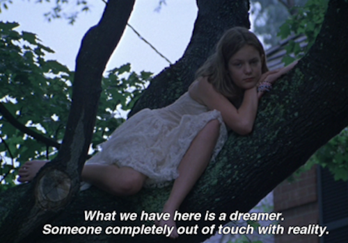 best movie ever, daydreaming, dreamer, dreaming, dreams, girl, movie, quote, quotes, sofia coppola, text, the virgin suicides