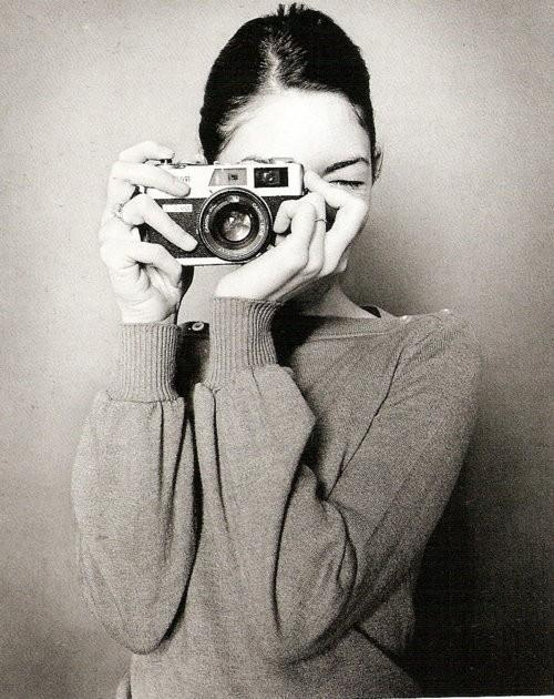 black and white, camera, director, films, girl, photography, sofia coppola, style, sweater, woman