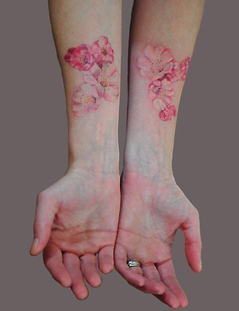 arms, flowers, hand and hands